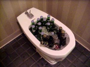 Bidet usato per tenere in fresca le birre
